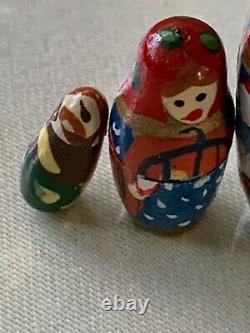 Russian Hand Painted Beautiful Girl Christmas 12 Days Doll Nesting 12 Pc Set