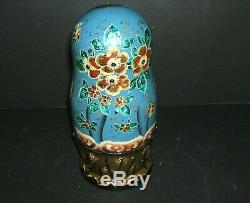 Russian Jeweled Nesting Dolls Set of 5 BEAUTIFUL! Rare! Signed