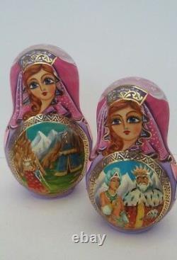 Russian Matryoshka Fairy Tale Collector's Doll 10 Doll set