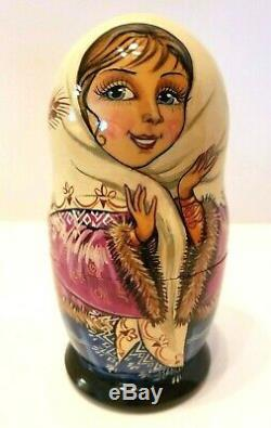 Russian Matryoshka Nesting Doll 5pcs Museum Quality