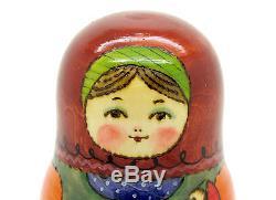 Russian Matryoshka Nesting Doll Babushka BIG 3 Dad Mum Baby Son RYABOVA