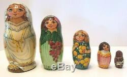 Russian Matryoshka Nesting Doll Museum Quality Lovely Art