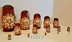 Russian Matryoshka Nesting Doll Rare 15 pcs