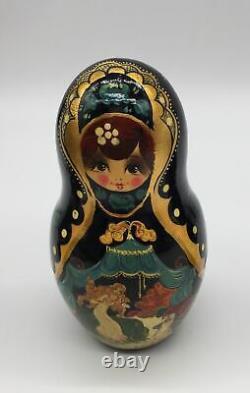 Russian Matryoshka Nesting Dolls Signed Ceprueb Nocag