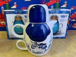 Russian Matryoshka Nesting Dolls Tea set Ceramics. Olympic Games in Sochi 2014