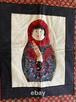Russian Matryoshka Russian Nesting Dolls Hand Made Quilt / Wall Hanging