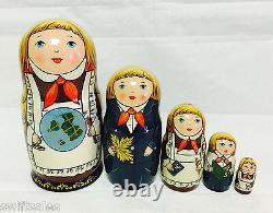Russian Matryoshka Russian Wooden Nesting Dolls 5 pieces #4