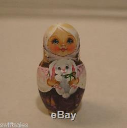 Russian Matryoshka Wooden Nesting Dolls 10 Pieces Unique Coloring New