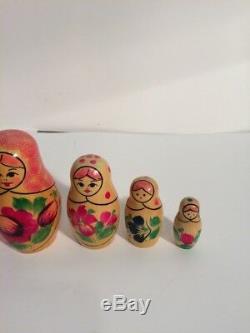 Russian Nesting Doll 5 Piece USSR Russia APTHKYA 3181a