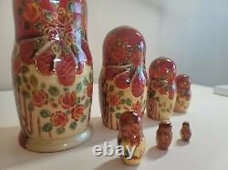 Russian Nesting Doll 8.5 EXQUISITE 7 pcs