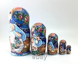 Russian Nesting Doll In Love Hand Painted Signed by artist ArtWork