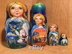 Russian Nesting Doll Matryoshka Ruslan & Lyudmila Solovyova Pushkin Hand Painted
