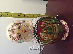 Russian Nesting Dolls 10pcs Set 12 Tall 1999 Dementyeva Sergiyev Posad Odissey
