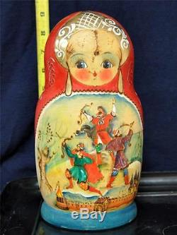 Russian Nesting Dolls 10pcs Set 9 Tall 1997 Sergiyev Posad Maidanova #1-31-64