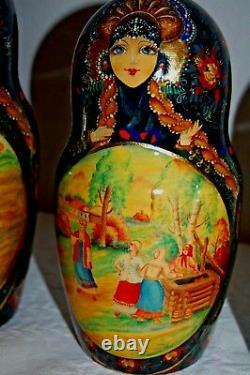 Russian Nesting Dolls 26pcs 17 Tall Stunning