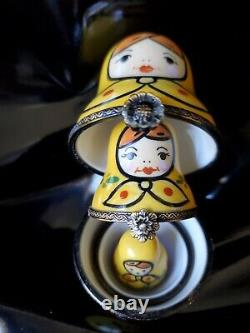 Russian Nesting Dolls By Rochard Limoges France Trinket Boxes with Box
