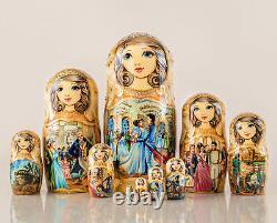 Russian Nesting Dolls Matryoshka 10pcs, Matryoshka dolls, Russian dolls