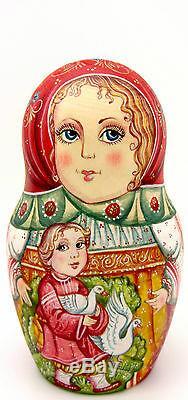 Russian Nesting Dolls Matryoshka Babushka Mama Children Girl Boy 7 Kirichenko