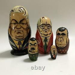 Russian Nesting Dolls Soviet Political Leaders Matryoshka Yeltsin Gorbachev 1991