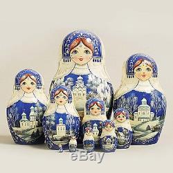 Russian Nesting Dolls Vyatskaya Matryoshka 10 pcs -11 (228)