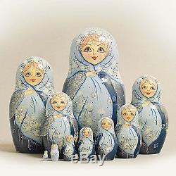 Russian Nesting Dolls Vyatskaya Matryoshka 10 pcs -11 (625)