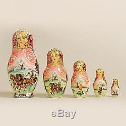 Russian Nesting Dolls Vyatskaya Matryoshka 5 pcs -6 (360)