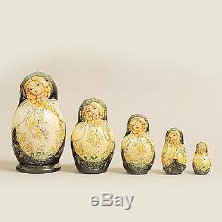 Russian Nesting Dolls Vyatskaya Matryoshka 5 pcs -6 (668)