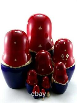 Russian Nesting dolls 11 pcs Matryoshka Babushka Wooden Stacking Christmas toys