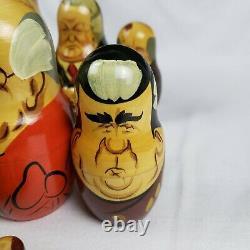 Russian USSR Soviet Political Leaders Wood Nesting Doll Matryoshka 12 pc set