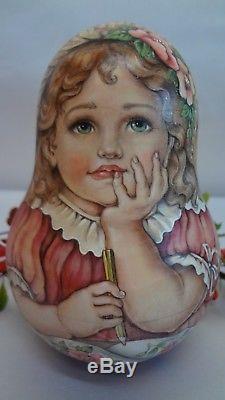Russian author's matryoshka Roly Poly doll Nyushen'ka