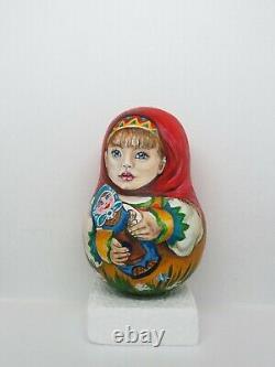 Russian doll MATRYOSHKA Roly Poly ORIGINAL HAND-PAINTED