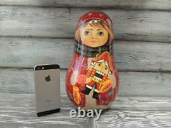 Russian doll MATRYOSHKA Roly Poly The Nutcracker Burgundy