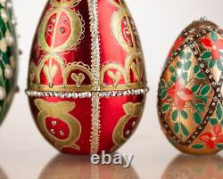 Russian faberge egg (Nesting faberge egg) Gold Faberge egg Easter nesting eggs