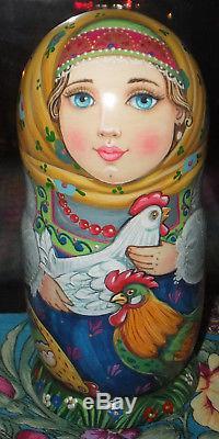 Russian matryoshka doll nesting babushka Beauty handmade exclusive