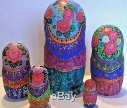 Russian matryoshka doll nesting babushka Easter handmade exclusive