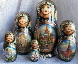 Russian matryoshka doll nesting babushka Moscow Petersburg handmade exclusive