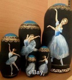 Russian matryoshka doll nesting babushka ballet handmade exclusive