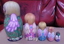 Russian matryoshka doll nesting babushka beauty Angel handmade exclusive