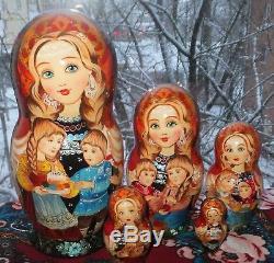 Russian matryoshka doll nesting babushka beauty Easter handmade exclusive