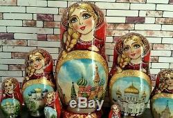 Russian matryoshka doll nesting babushka beauty Moscow handmade