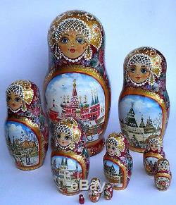 Russian matryoshka doll nesting babushka beauty Moscow handmade exclusive