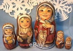 Russian matryoshka doll nesting babushka beauty North handmade exclusive