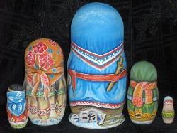 Russian matryoshka doll nesting babushka beauty Notth handmade exclusive