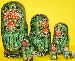 Russian matryoshka doll nesting babushka beauty Tales handmade