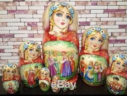 Russian matryoshka doll nesting babushka beauty Tales handmade exclusive