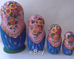 Russian matryoshka doll nesting babushka beauty apple handmade exclusive