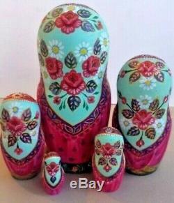 Russian matryoshka doll nesting babushka beauty cats handmade exclusive