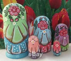 Russian matryoshka doll nesting babushka beauty chicken handmade exclusive