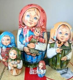 Russian matryoshka doll nesting babushka beauty children handmade exclusive