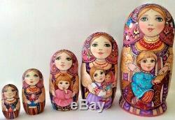 Russian matryoshka doll nesting babushka beauty color handmade exclusive